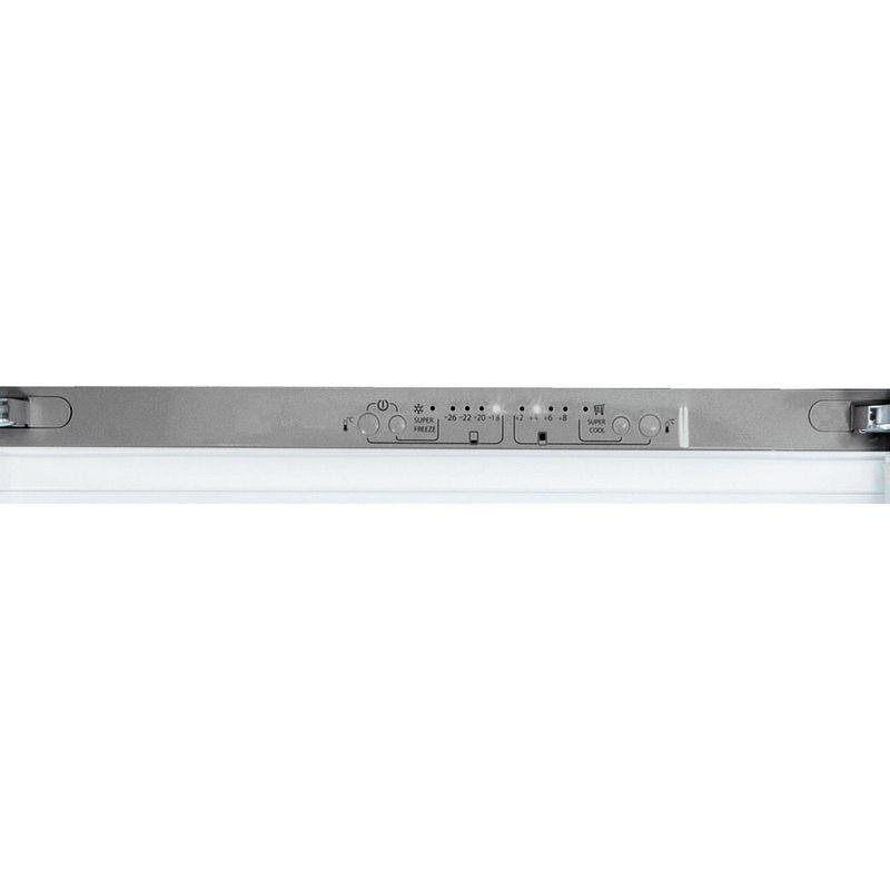 Hotpoint-Fridge-Freezer-Free-standing-FFU3D.1-X-Inox-2-doors-Control-panel