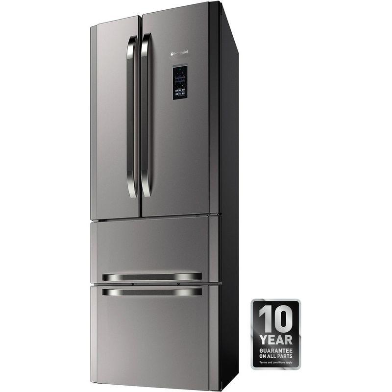 Hotpoint-Fridge-Freezer-Free-standing-FFU4DG.1-X-MTZ-Inox-2-doors-Perspective