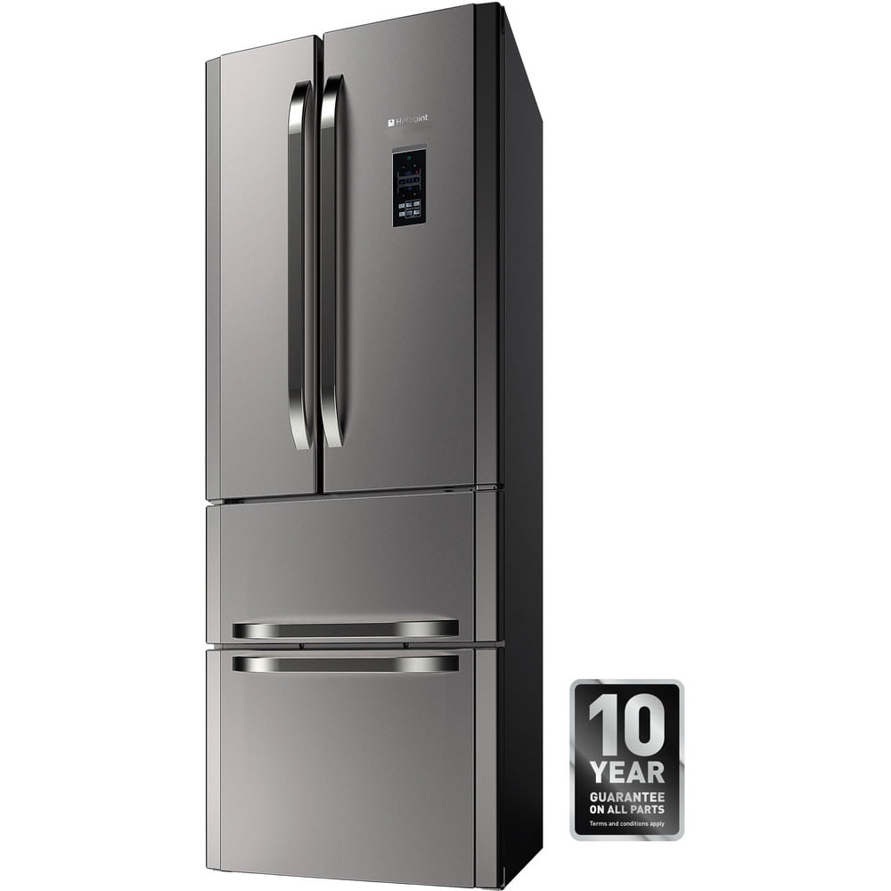 Hotpoint Freestanding fridge freezer FFU4DG.1 X MTZ : discover the specifications of our home appliances and bring the innovation into your house and family.