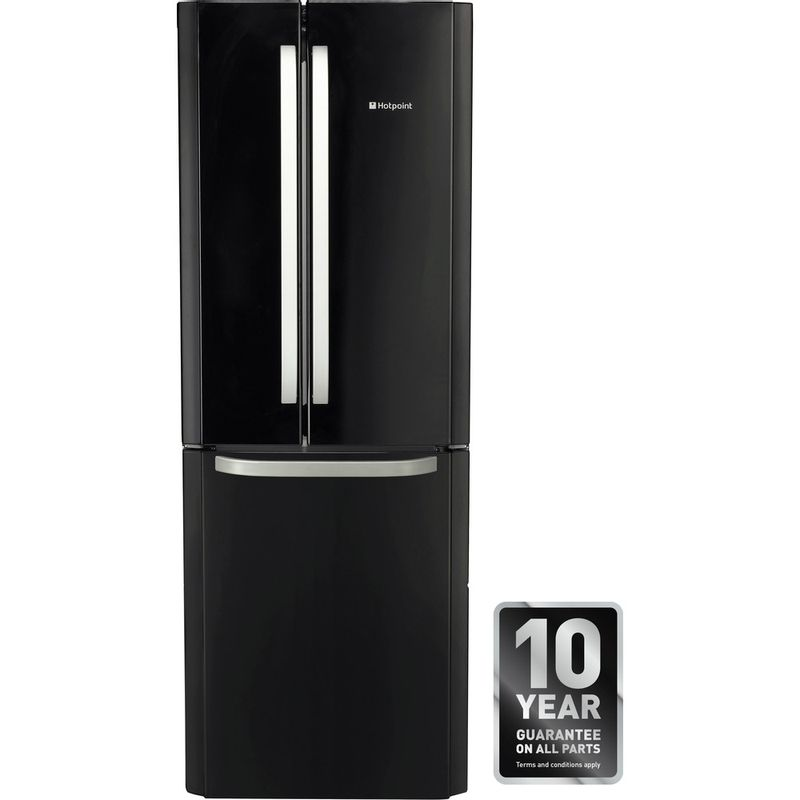 Hotpoint-Fridge-Freezer-Free-standing-FFU3DG.1-K-Black-2-doors-Award