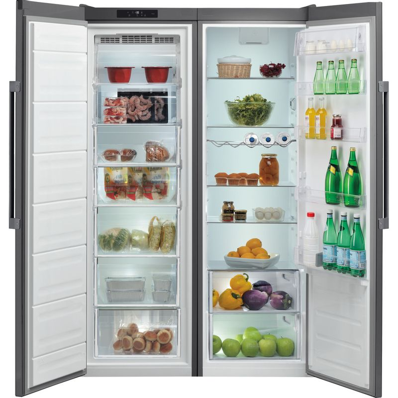 Hotpoint-Refrigerator-Free-standing-SH8-1Q-GRFD-UK.1-Graphite-Frontal-open