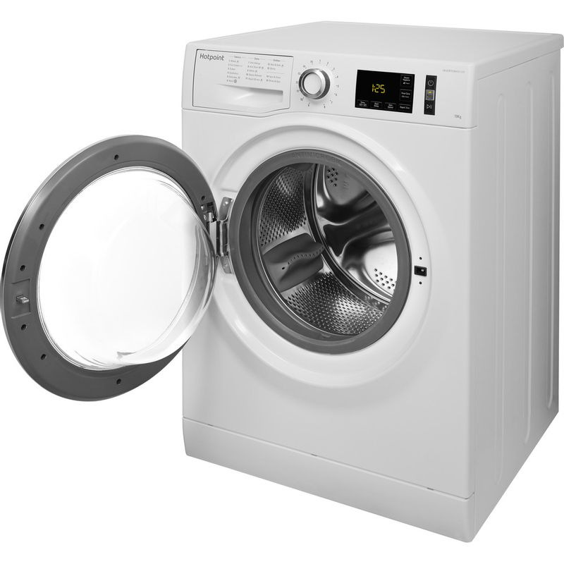 Hotpoint-Washing-machine-Free-standing-NM11-1065-WC-A-UK-White-Front-loader-A----Perspective_Open