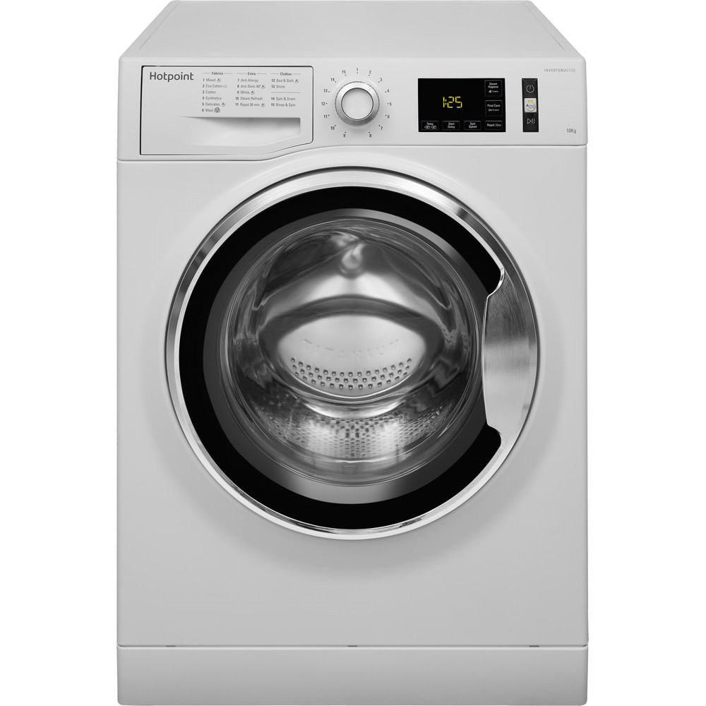 Hotpoint Freestanding Washing Machine NM11 1045 WC A UK : discover the specifications of our home appliances and bring the innovation into your house and family.