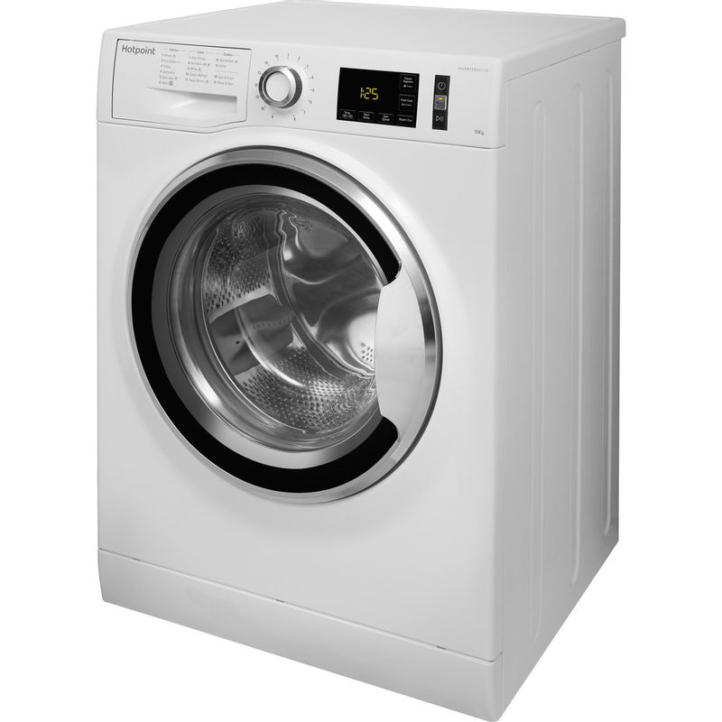 Hotpoint-Washing-machine-Free-standing-NM11-1045-WC-A-UK-White-Front-loader-A----Perspective