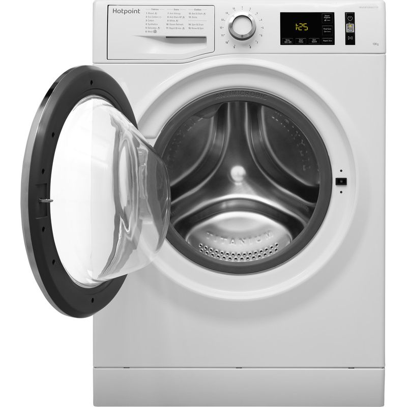 Hotpoint-Washing-machine-Free-standing-NM11-1045-WC-A-UK-White-Front-loader-A----Frontal_Open