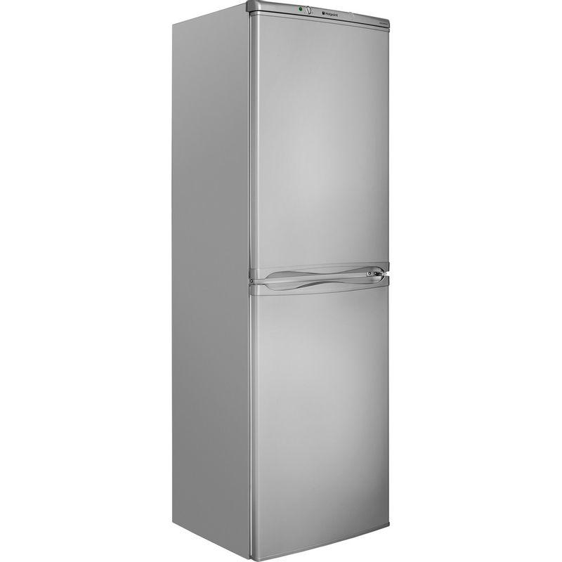 Hotpoint-Fridge-Freezer-Free-standing-HBNF-5517-S-UK-Silver-2-doors-Perspective