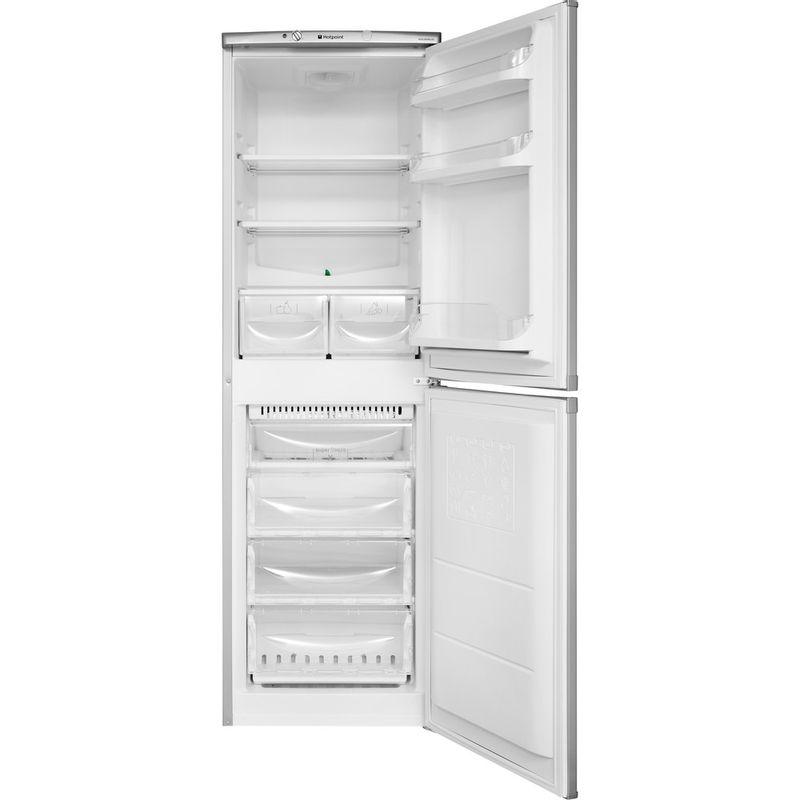 Hotpoint-Fridge-Freezer-Free-standing-HBNF-5517-S-UK-Silver-2-doors-Frontal-open