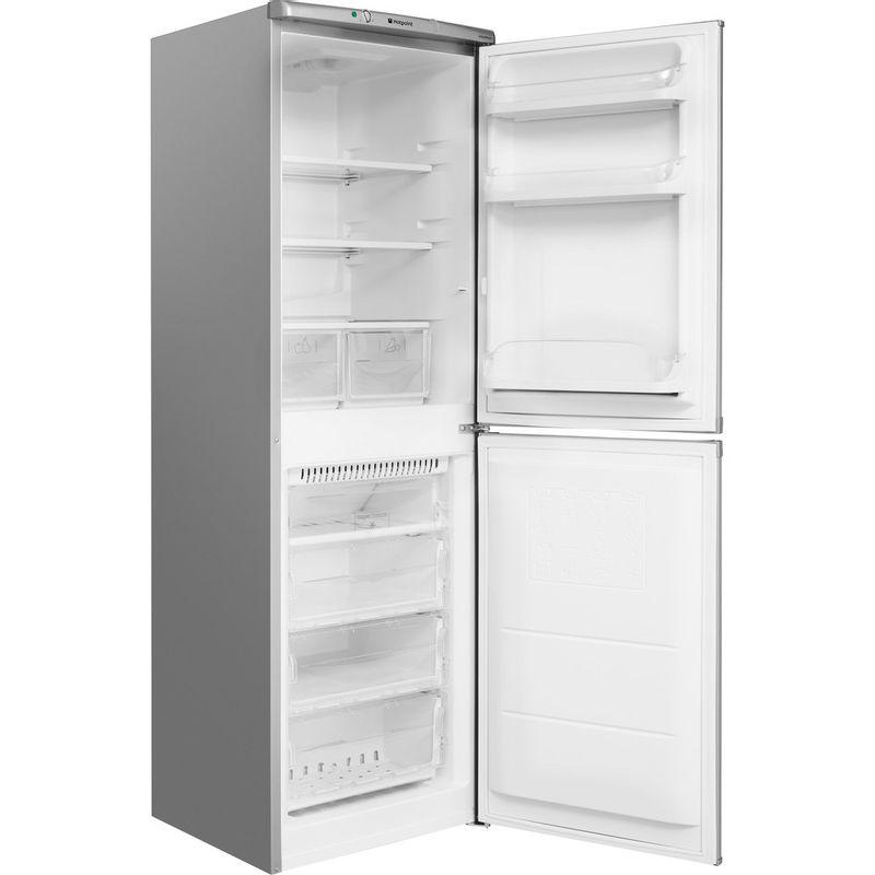Hotpoint-Fridge-Freezer-Free-standing-HBNF-5517-S-UK-Silver-2-doors-Perspective-open