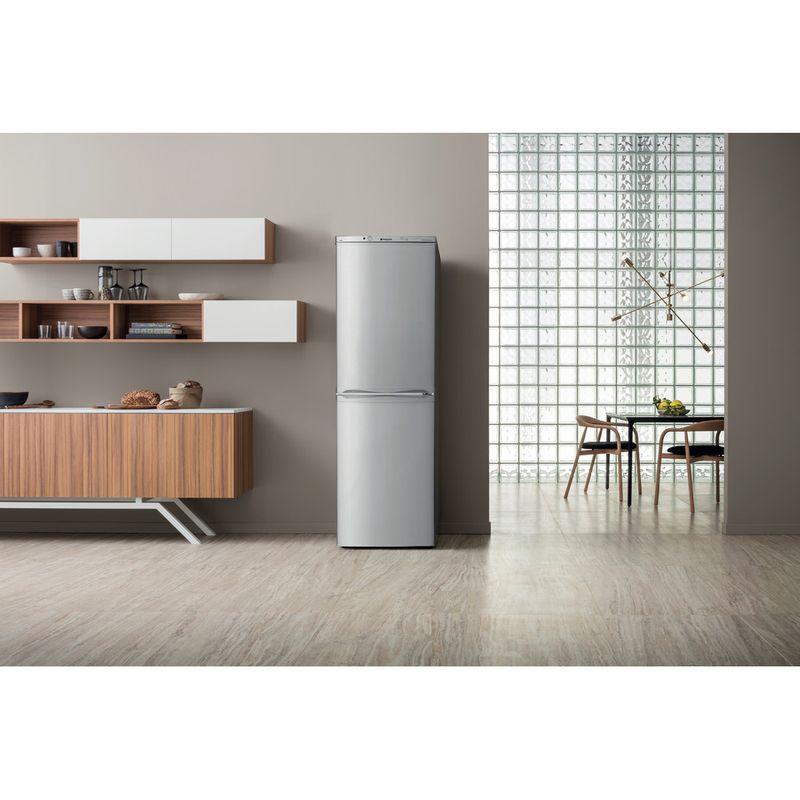 Hotpoint-Fridge-Freezer-Free-standing-HBNF-5517-S-UK-Silver-2-doors-Lifestyle-frontal