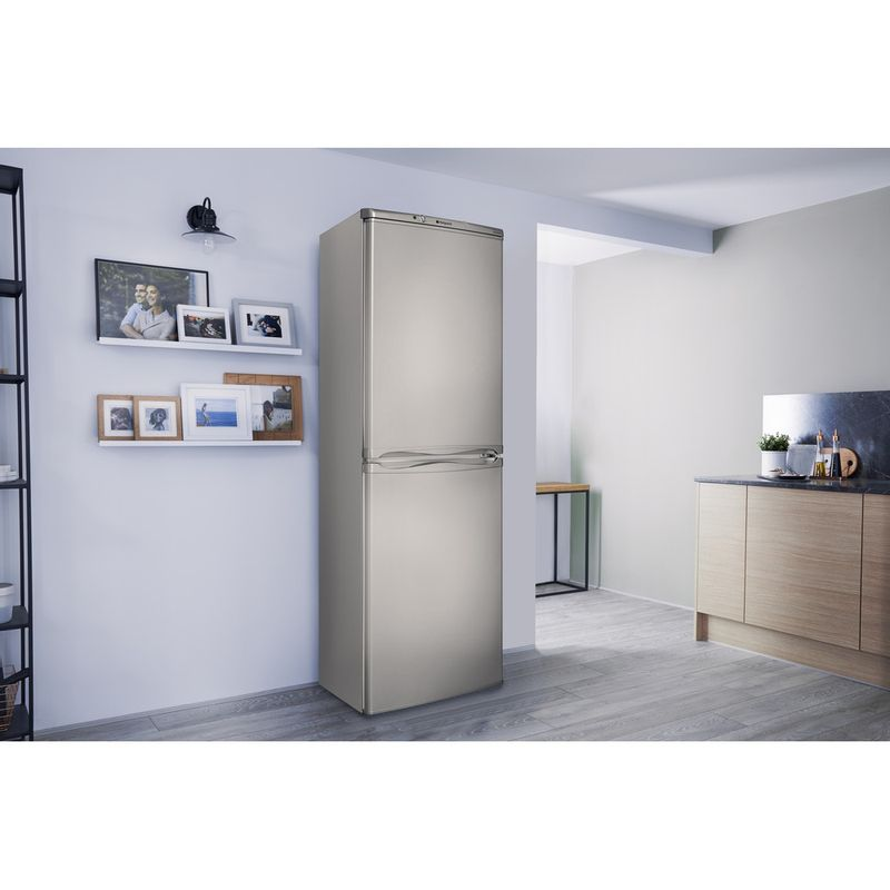Hotpoint-Fridge-Freezer-Free-standing-HBNF-5517-S-UK-Silver-2-doors-Lifestyle-perspective