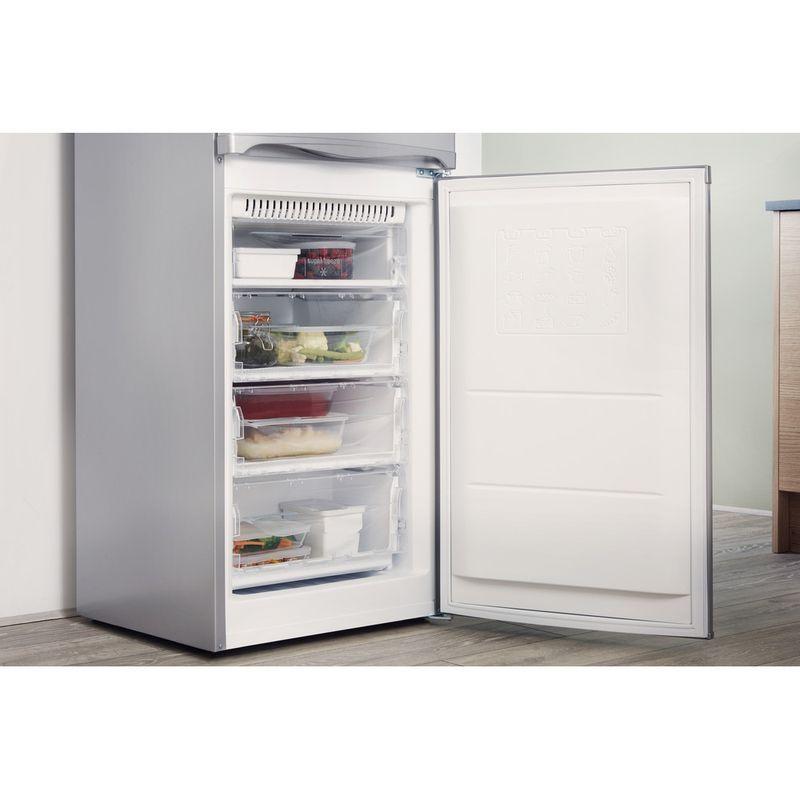 Hotpoint-Fridge-Freezer-Free-standing-HBNF-5517-S-UK-Silver-2-doors-Lifestyle-perspective-open