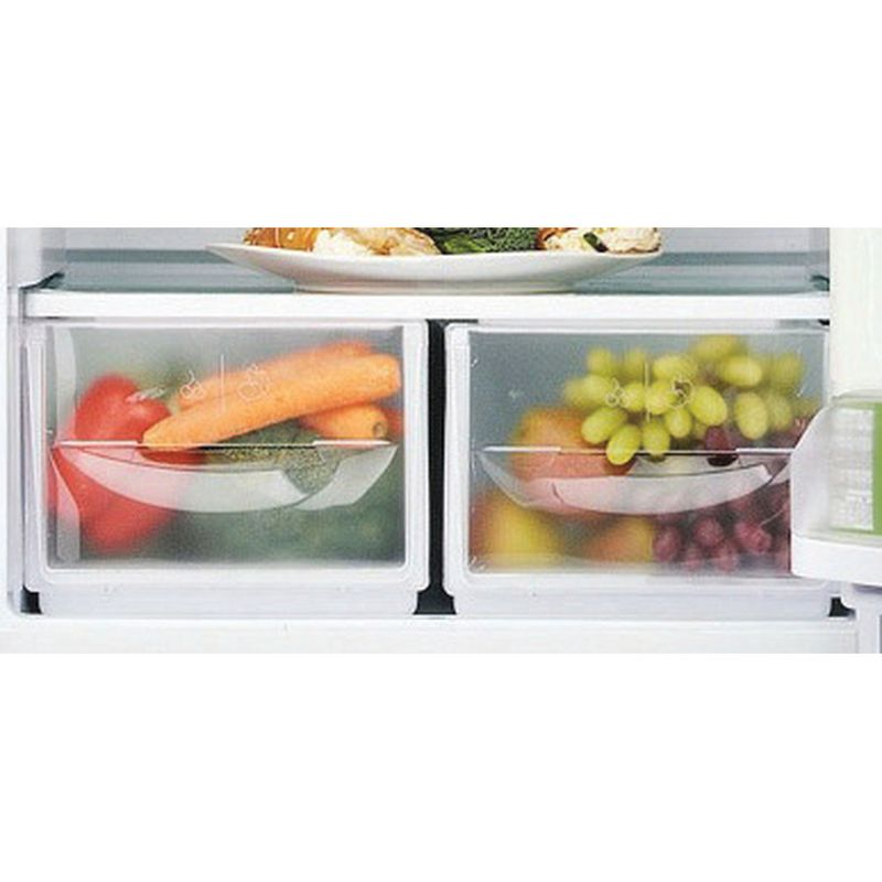 Hotpoint-Fridge-Freezer-Free-standing-HBNF-5517-S-UK-Silver-2-doors-Drawer