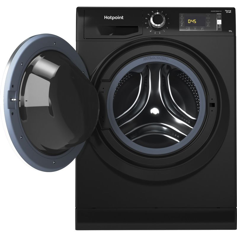 Hotpoint-Washing-machine-Free-standing-NLLCD-1065-DGD-AW-UK-Dark-Grey-Front-loader-A----Frontal_Open