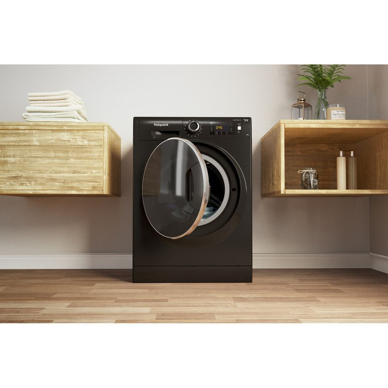 Hotpoint-Washing-machine-Free-standing-NLLCD-1065-DGD-AW-UK-Dark-Grey-Front-loader-A----Lifestyle_Frontal_Open