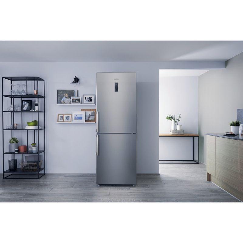 Hotpoint-Fridge-Freezer-Free-standing-NFFUD-191-X.1-Optic-Inox-2-doors-Lifestyle-frontal