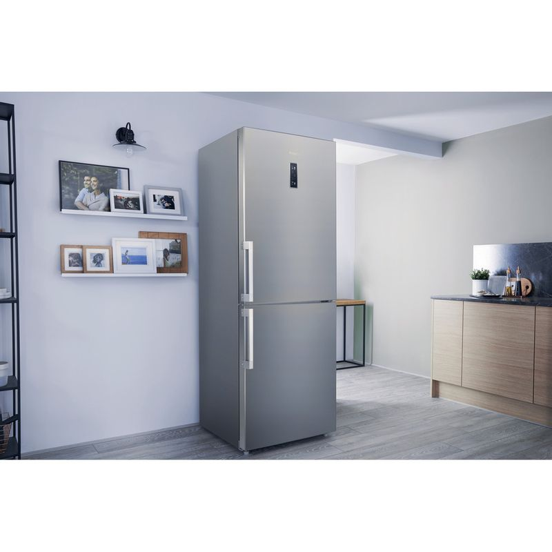 Hotpoint-Fridge-Freezer-Free-standing-NFFUD-191-X.1-Optic-Inox-2-doors-Lifestyle-perspective