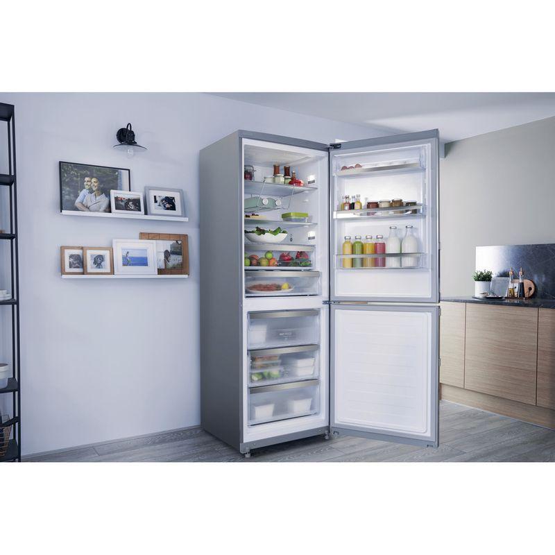 Hotpoint-Fridge-Freezer-Free-standing-NFFUD-191-X.1-Optic-Inox-2-doors-Lifestyle-perspective-open