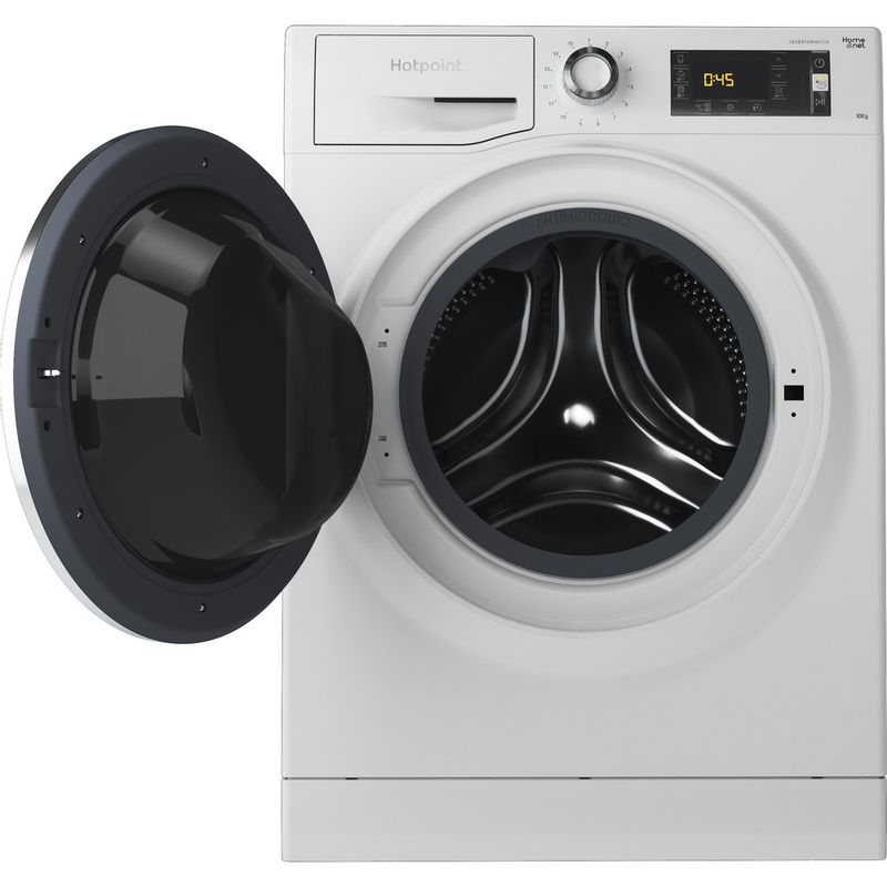 Hotpoint-Washing-machine-Free-standing-NLLCD-1045-WD-AW-UK-White-Front-loader-A----Frontal_Open
