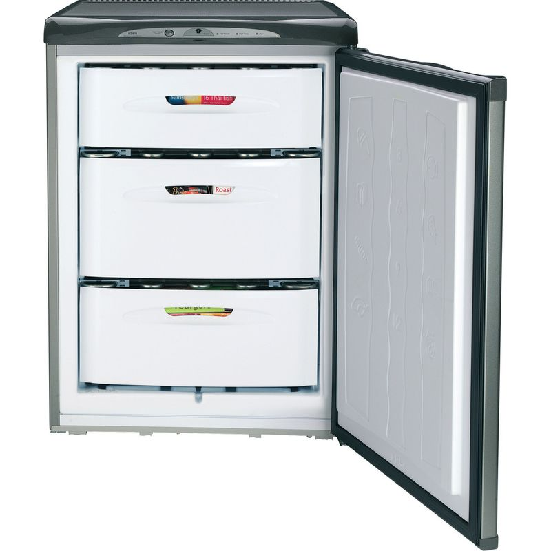 Hotpoint-Freezer-Free-standing-FZA36G.1-Graphite-Frontal-open