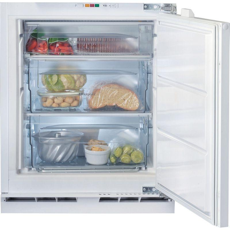 Hotpoint-Freezer-Built-in-HZ-A1.UK.1-Steel-Frontal-open