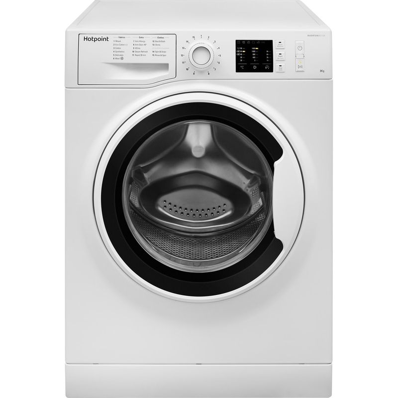 Hotpoint-Washing-machine-Free-standing-NM10-844-WW-UK-White-Front-loader-A----Frontal