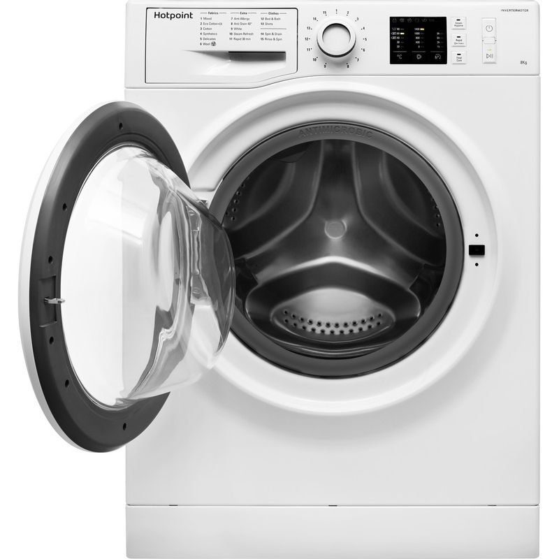 Hotpoint-Washing-machine-Free-standing-NM10-844-WW-UK-White-Front-loader-A----Frontal_Open