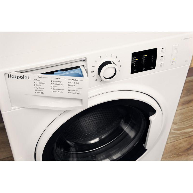 Hotpoint-Washing-machine-Free-standing-NM10-844-WW-UK-White-Front-loader-A----Drawer