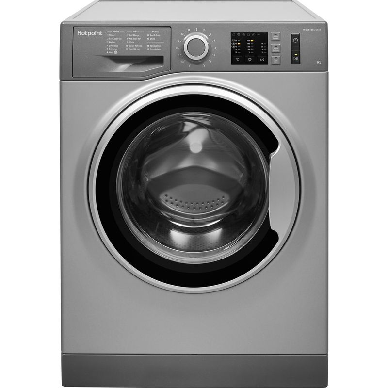 Hotpoint-Washing-machine-Free-standing-NM10-844-GS-UK-Graphite-Front-loader-A----Frontal