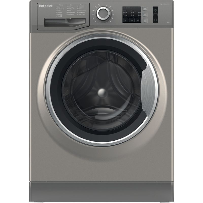 Hotpoint-Washing-machine-Free-standing-NM10-944-GS-UK-Graphite-Front-loader-A----Frontal