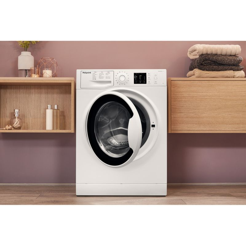 Hotpoint-Washing-machine-Free-standing-NM10-944-WW-UK-White-Front-loader-A----Lifestyle_Frontal_Open