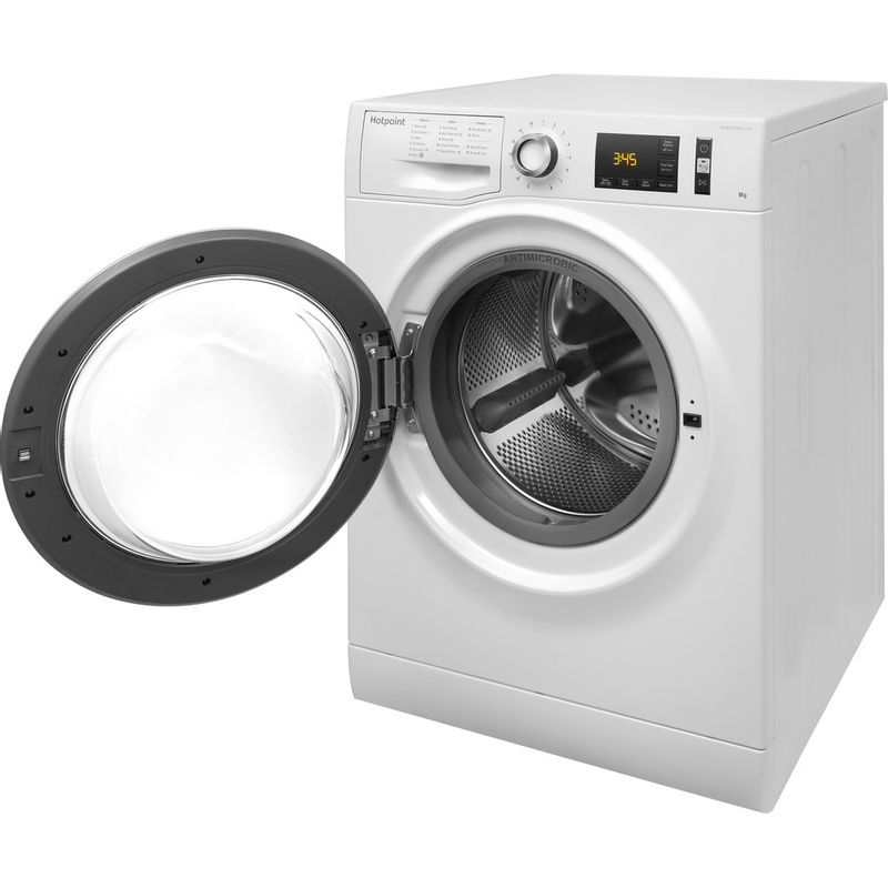 Hotpoint-Washing-machine-Free-standing-NM11-845-WC-A-UK-White-Front-loader-A----Perspective_Open