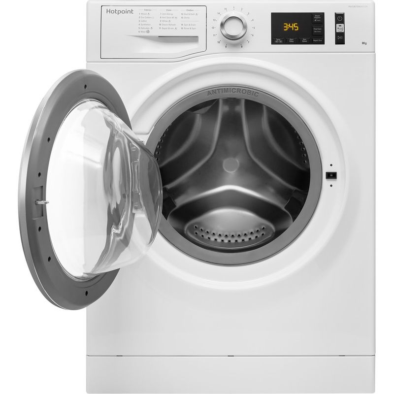 Hotpoint-Washing-machine-Free-standing-NM11-845-WC-A-UK-White-Front-loader-A----Frontal_Open