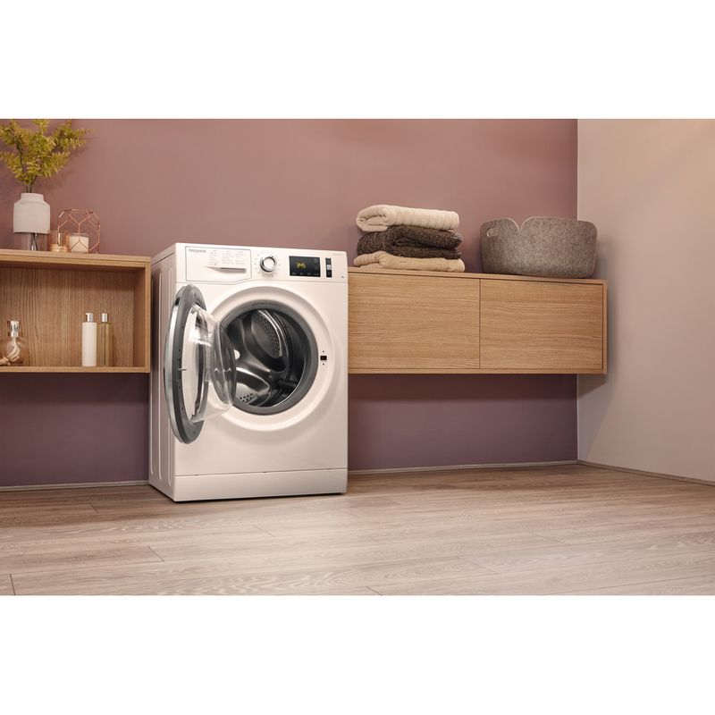 Hotpoint-Washing-machine-Free-standing-NM11-845-WC-A-UK-White-Front-loader-A----Lifestyle_Perspective_Open