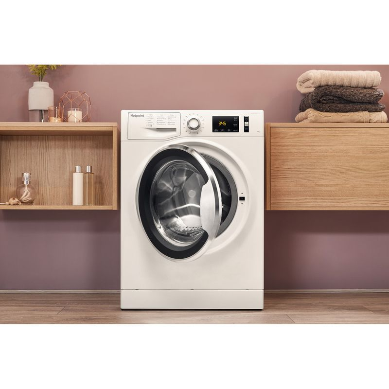 Hotpoint-Washing-machine-Free-standing-NM11-845-WC-A-UK-White-Front-loader-A----Lifestyle_Frontal_Open