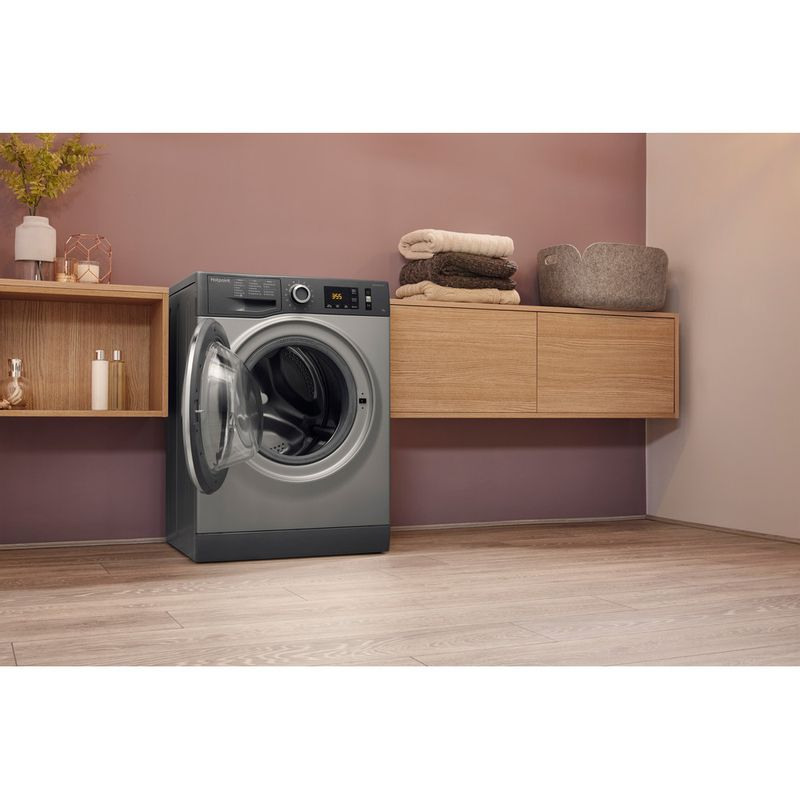 Hotpoint-Washing-machine-Free-standing-NM11-845-GC-A-UK-Graphite-Front-loader-A----Lifestyle_Perspective_Open
