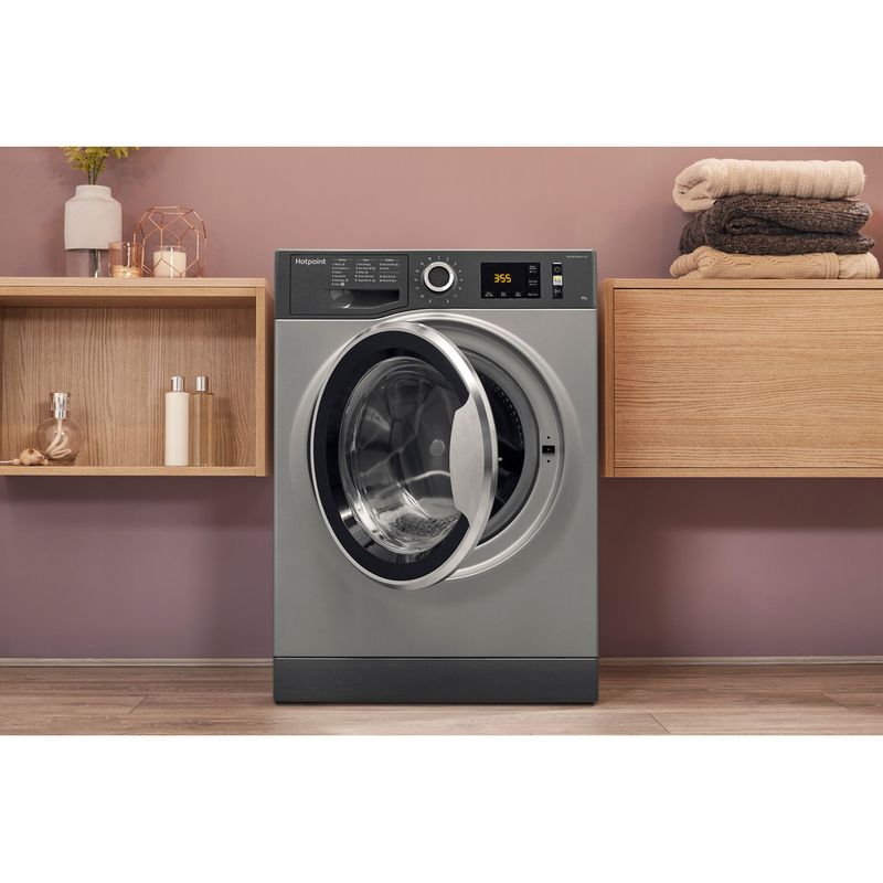 Hotpoint-Washing-machine-Free-standing-NM11-845-GC-A-UK-Graphite-Front-loader-A----Lifestyle_Frontal_Open