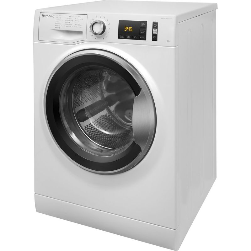 Hotpoint-Washing-machine-Free-standing-NM11-964-WC-A-UK-White-Front-loader-A----Perspective