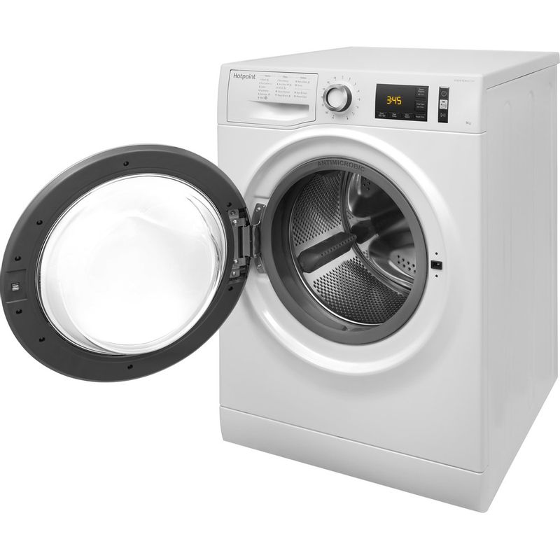 Hotpoint-Washing-machine-Free-standing-NM11-964-WC-A-UK-White-Front-loader-A----Perspective_Open
