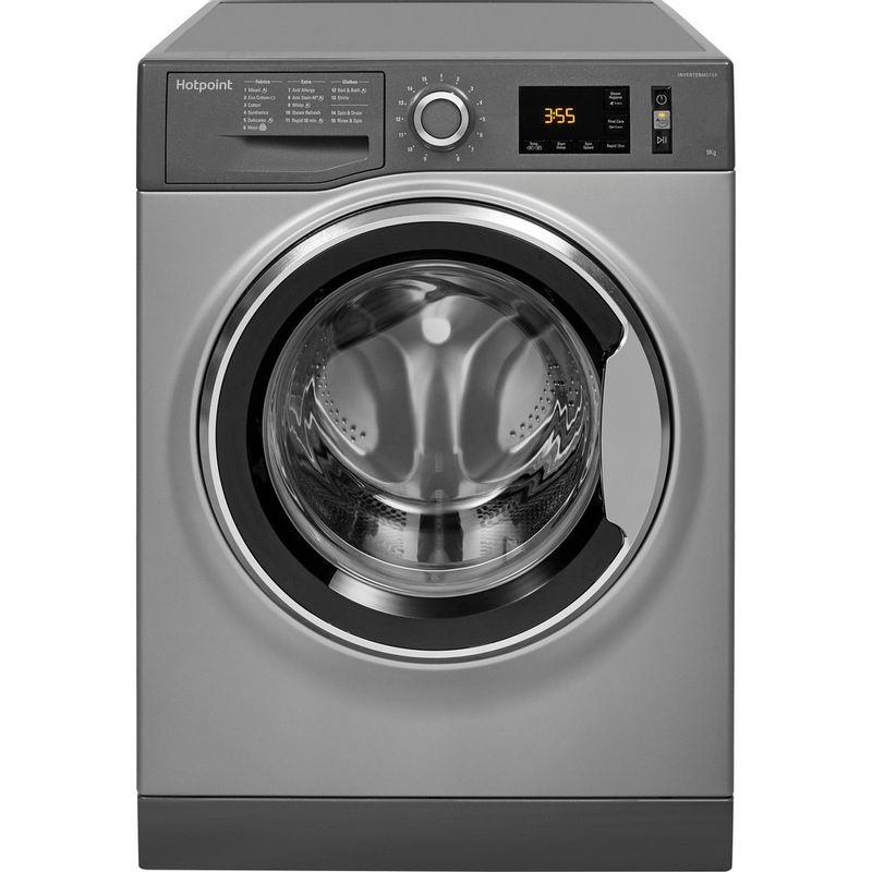 Hotpoint-Washing-machine-Free-standing-NM11-964-GC-A-UK-Graphite-Front-loader-A----Frontal