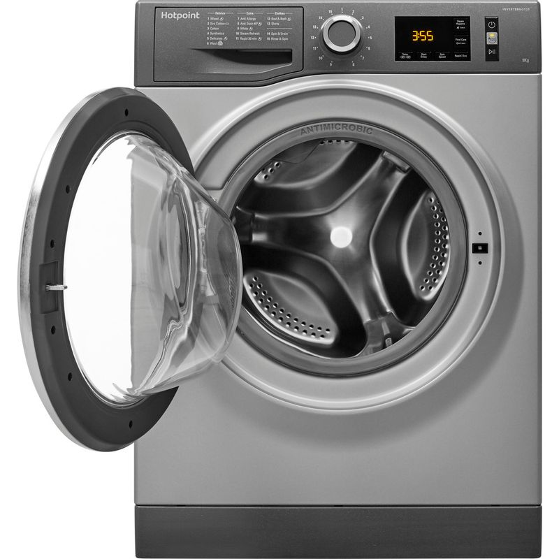 Hotpoint-Washing-machine-Free-standing-NM11-964-GC-A-UK-Graphite-Front-loader-A----Frontal_Open