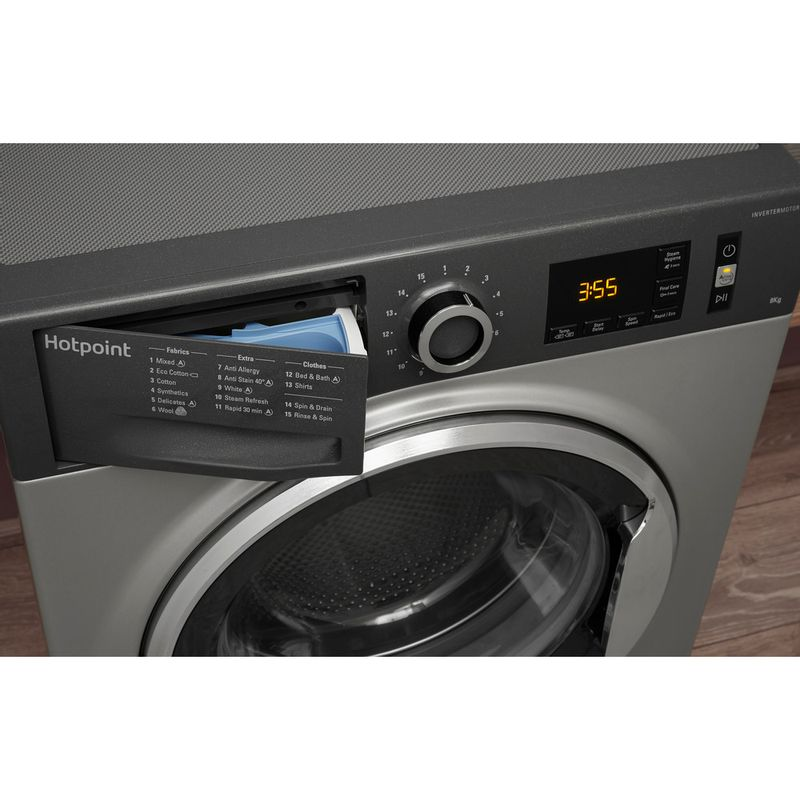 Hotpoint-Washing-machine-Free-standing-NM11-964-GC-A-UK-Graphite-Front-loader-A----Drawer