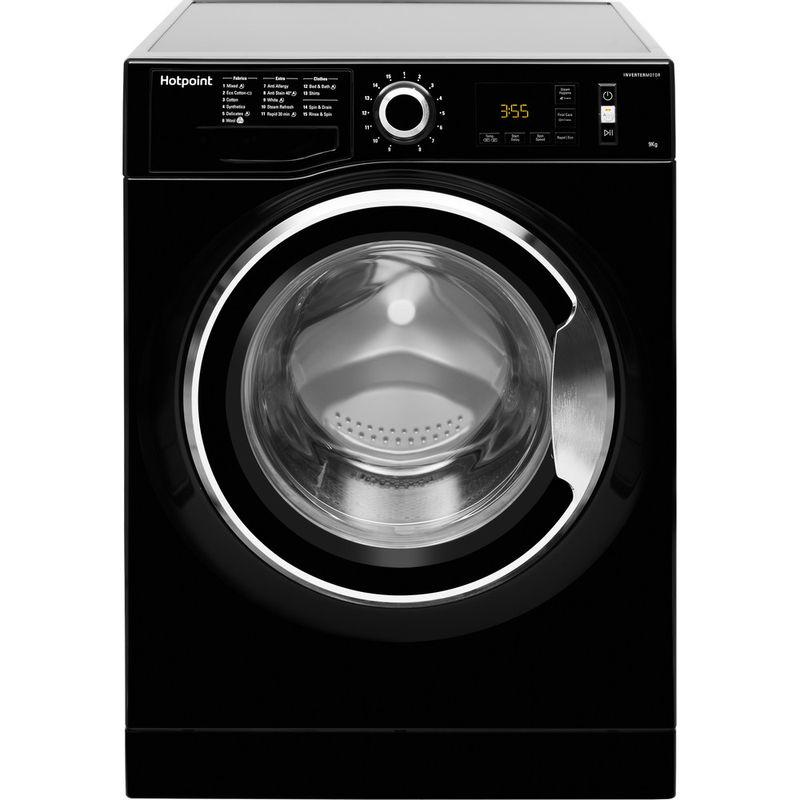 Hotpoint-Washing-machine-Free-standing-NM11-946-BC-A-UK-Black-Front-loader-A----Frontal