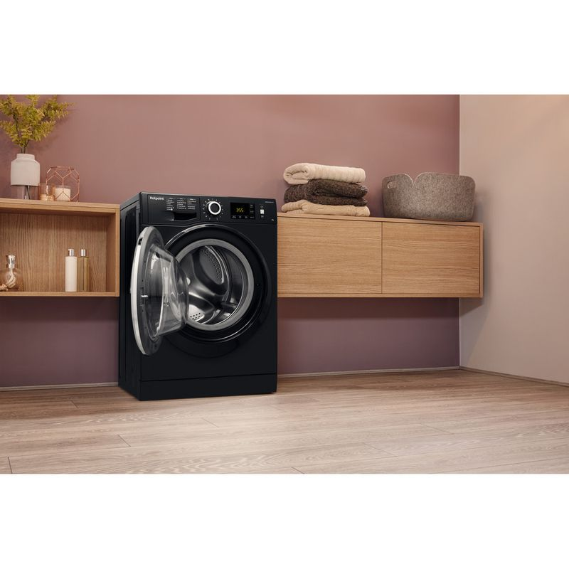 Hotpoint-Washing-machine-Free-standing-NM11-946-BC-A-UK-Black-Front-loader-A----Lifestyle_Perspective_Open