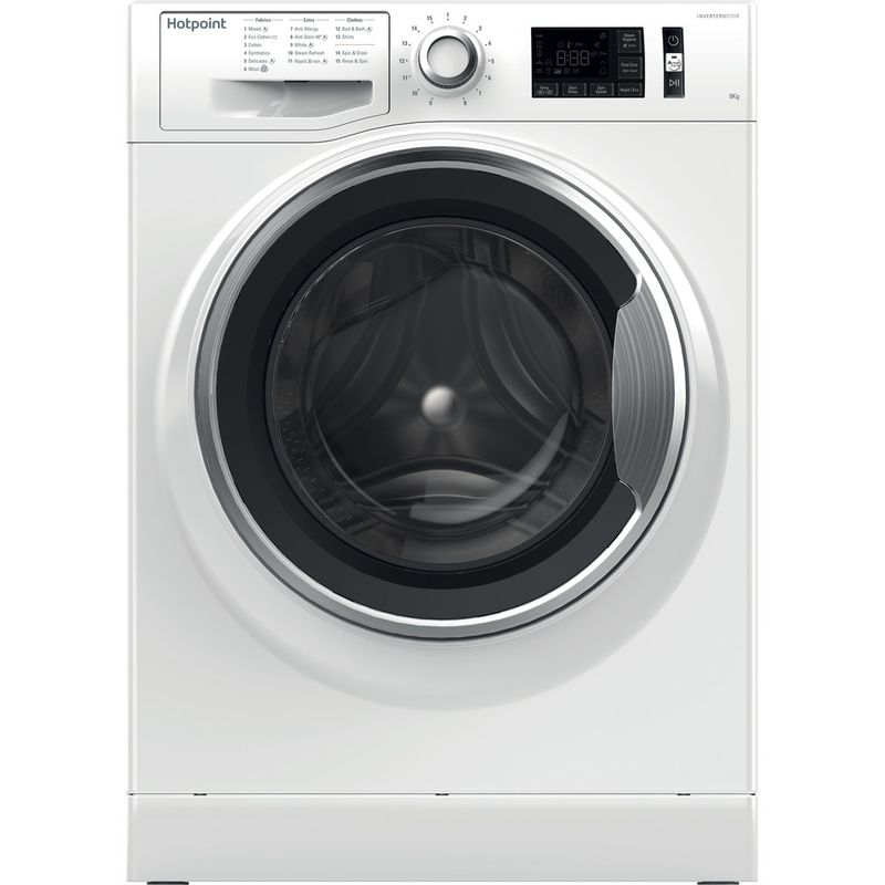 Hotpoint-Washing-machine-Free-standing-NM11-946-WC-A-UK-White-Front-loader-A----Frontal