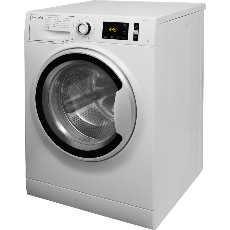 Hotpoint-Washing-machine-Free-standing-NM11-946-WS-A-UK-White-Front-loader-A----Perspective