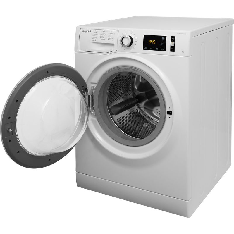 Hotpoint-Washing-machine-Free-standing-NM11-946-WS-A-UK-White-Front-loader-A----Perspective_Open