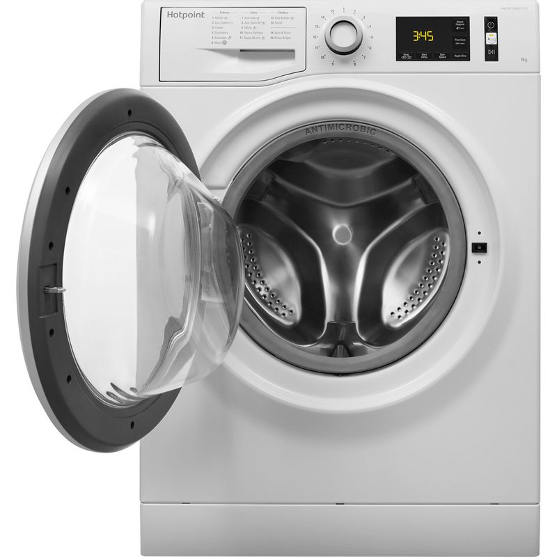 Hotpoint-Washing-machine-Free-standing-NM11-946-WS-A-UK-White-Front-loader-A----Frontal_Open