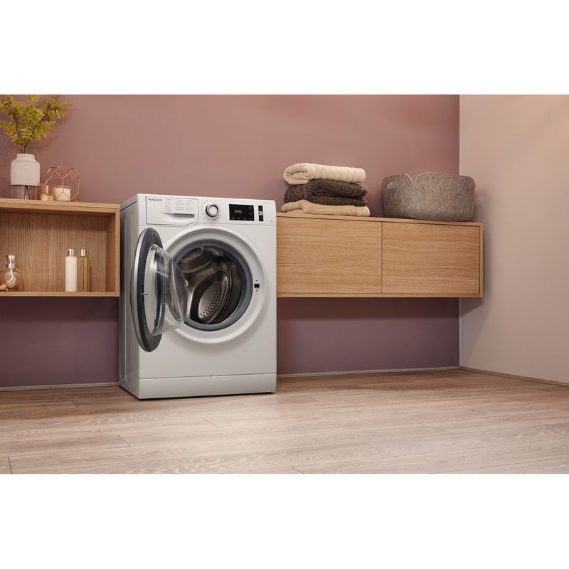 Hotpoint-Washing-machine-Free-standing-NM11-946-WS-A-UK-White-Front-loader-A----Lifestyle_Perspective_Open