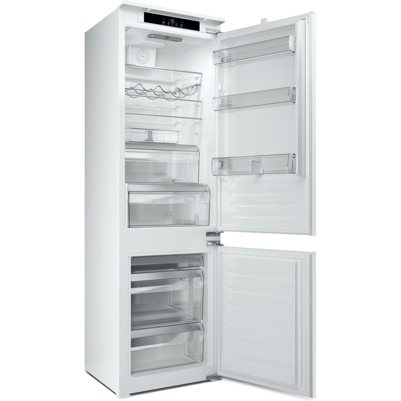 Hotpoint-Fridge-Freezer-Built-in-HM-7030-E-C-AA-O3.1-White-2-doors-Perspective-open