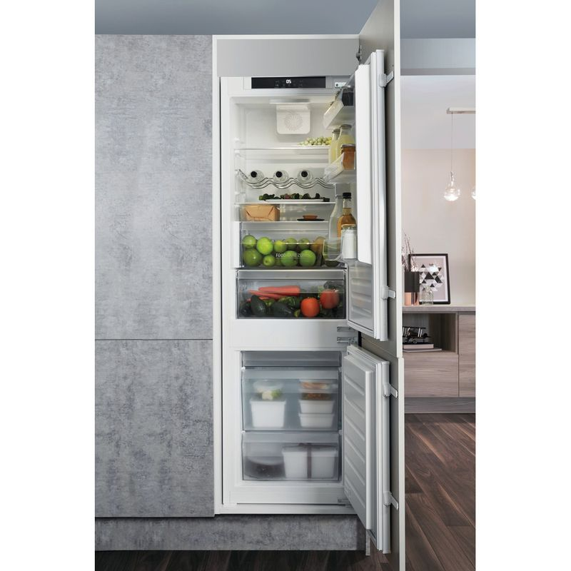 Hotpoint-Fridge-Freezer-Built-in-HM-7030-E-C-AA-O3.1-White-2-doors-Lifestyle-frontal-open